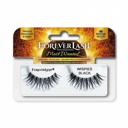Gene false banda din par natural Foreverlash Most Wanted Wispies Black