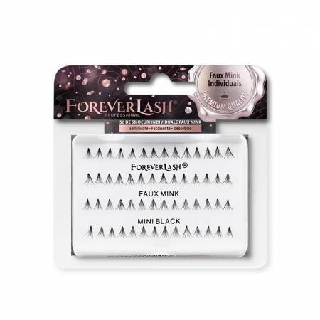Gene false Individuale Foreverlash FAUX MINK fara nod Mini Black